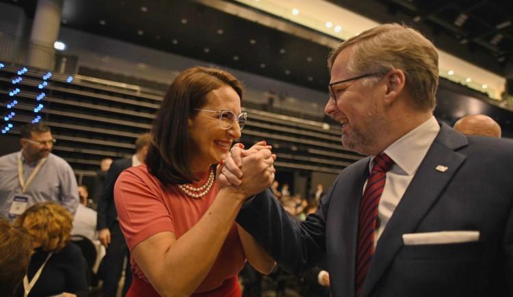 FOTOGALERIE: Občanští demokraté si v Praze zvolili své vedení. V předsednictvu zasedne šestice mužů