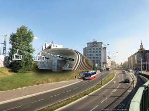 VIZUALIZACE: Stavba lanovky z Podbaby do Bohnic je opět o něco blíž. Náklady mají přesáhnout miliardu