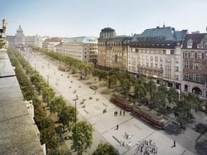 Začíná rekonstrukce Václavského náměstí. Dolní část dnes obsadí dělníci
