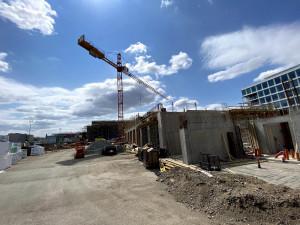 FOTO, VIDEO: Podívejte se, jak vypadá výstavba nové hasičské stanice v Holešovicích