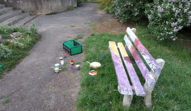 Skupinka mladých lidí chtěla okrášlit lavičky v parku. Místo díků musí ke správnímu orgánu
