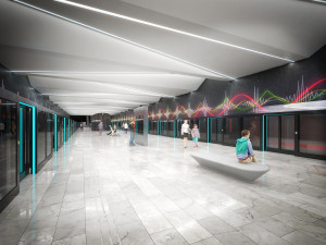 VIZUALIZACE: Podívejte se, jak budou vypadat další zastávky metra D
