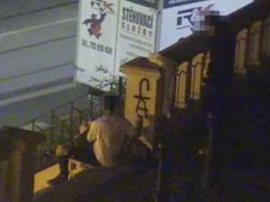 VIDEO: Mladíci posprejovali Vršovický zámeček. Za pár minut je chytili strážníci