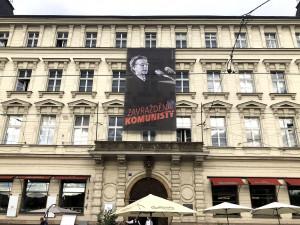 Dnes v noci bude na budovu sídla KSČM promítán portrét Milady Horákové