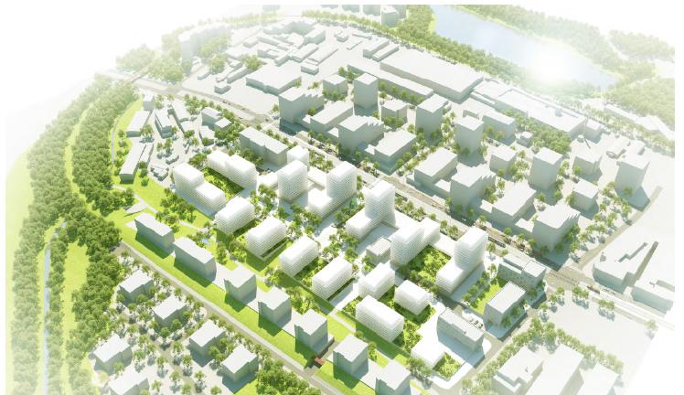 """Na """"devítce"""" by mohla vyrůst nová městská čtvrť. Součástí by byla i nová školka a ordinace"""