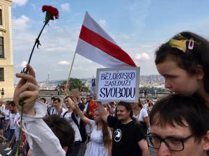 Za svobodné Bělorusko. V Praze se dnes bude opět demonstrovat