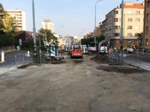 FOTO, VIDEO: Na Pankrác povede nová tramvajová trať. Bude stát 68 milionů