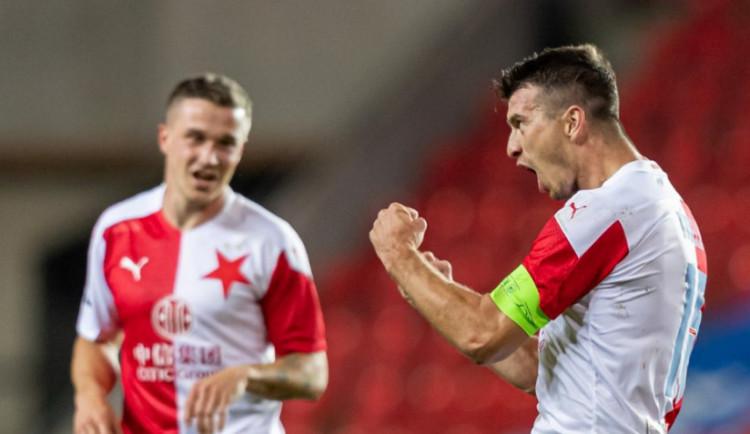 Slavia potvrdila roli favorita. Nad Slováckem doma bez problémů zvítězila 3:0