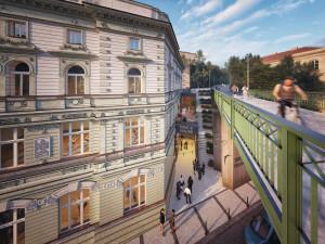 VIZUALIZACE: Čtyřpatrová budova lázní na Žižkově se promění v Dům tance