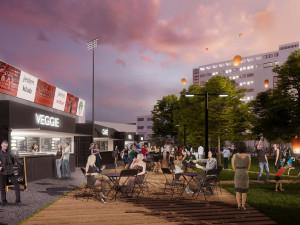 VIZUALIZACE: Projekt, který vdechne dolnímu Žižkovu nový život. Podívejte se na nový stadion Viktorky