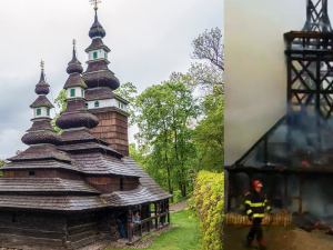 Na opravu požárem zničeného dřevěného kostela sv. Michala již vznikla veřejná sbírka