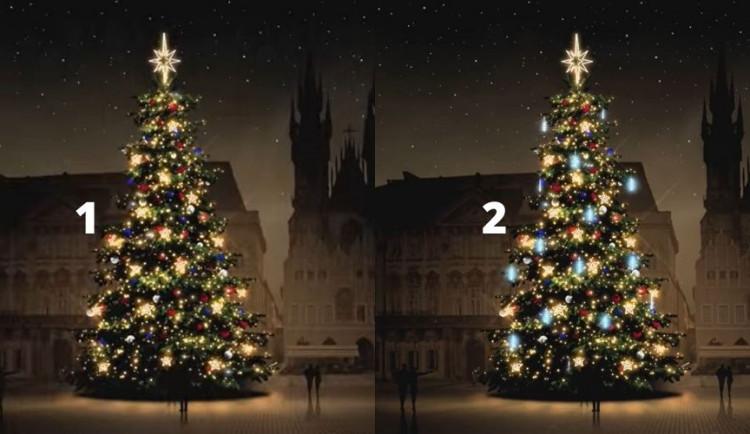 ANKETA: Pražané hlasují mezi dvěma variantami ozdob pro vánoční strom. Která se líbí vám?