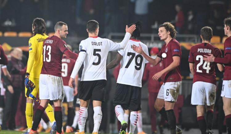 Sparta prohrála na závěr Evropské ligy 0:1 s AC Milán, Slavia postupuje z druhého místa