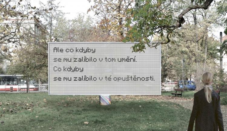 Haukovou a Chalupeckého bude ve vršovickém parku připomínat billboard. Ten bude řízený umělou inteligencí