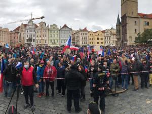 Centrum Prahy dnes čeká další protest. Organizátoři očekávají přes tisíc demonstrantů