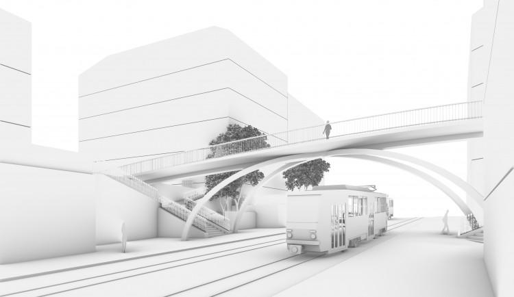 Ulici Wenzigovu a U Zvonařky v Praze 2 propojí nový most. Podívejte se, jak bude vypadat