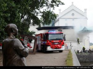 Loňský požár v Muzeu Kampa nebyl podle mluvčího policie trestným činem. Jednalo se zřejmě o přestupek