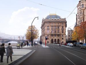 Největší proměna centra Prahy za desítky let. Smetanovo nábřeží se dočká plynulejší dopravy i nových stromů