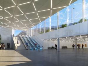 Železniční stanice na pražském Letišti Václava Havla má svou podobu. Podívejte se, jak bude vypadat