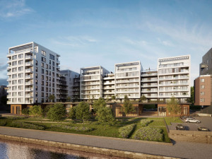 Revitalizace holešovického přístavu pokračuje výstavbou další části rezidenčního komplexu Prague Marina