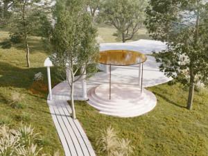 V parku Sacré Coeur vznikne venkovní pavilon. Podívejte se, jak bude vypadat