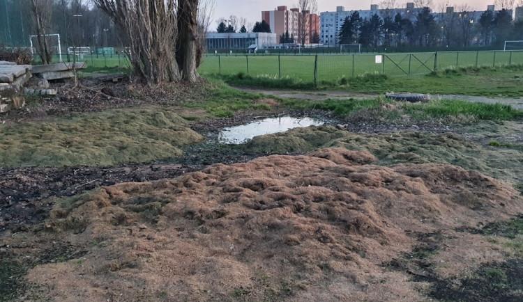 Magistrát řeší nečekaný spor. Smrad z hnijící trávy od fotbalistů ruší tenisty
