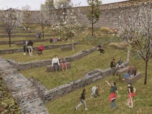 Pražský park U Hradeb projde obnovou. Podívejte se, jak bude vypadat