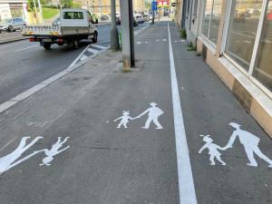 Chodník na Žižkověpřepůlila bílá čára. Mysleli jsme si, že jde o recesi, říká starosta