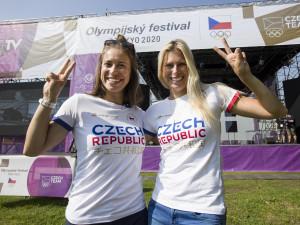 Olympijský festival v Praze začíná. Jako první dorazily Eva Samková a Andrea Hlaváčková