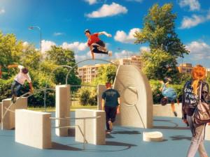 V Praze vznikne unikátní parkourové hřiště. Bude vyrobeno 3D tiskem z recyklovaného betonu
