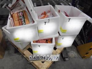 Pražští celníci zadrželi téměř 350 kilogramů produktů z Thajska. Místo ovoce objevili maso
