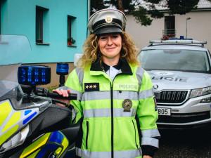 Policie pro mě znamená pracovní jistotu, říká zástupce vedoucího Dopravního inspektorátu Lucie Ksandrová