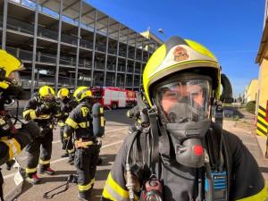 Pražští hasiči prošli cvičením, při kterém došlo k výbuchu v plnírně plynů